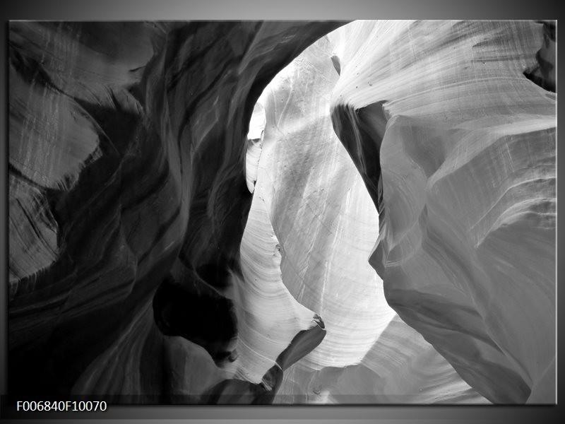 Canvas Schilderij Zand | Zwart, Grijs