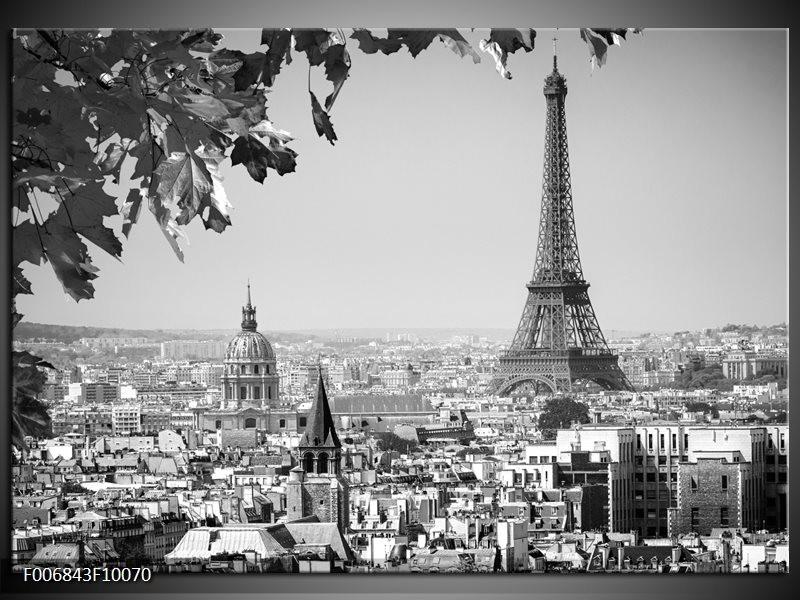 Canvas Schilderij Parijs, Steden | Zwart, Grijs