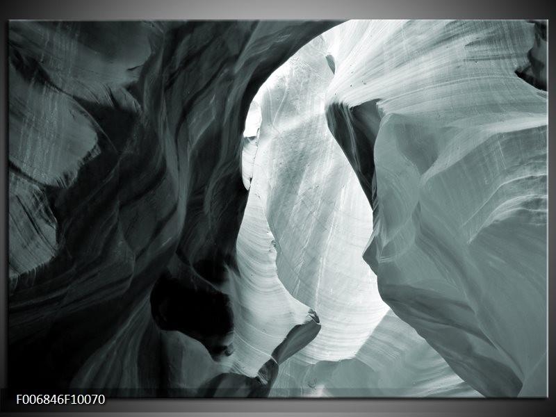 Canvas Schilderij Zand | Grijs, Groen