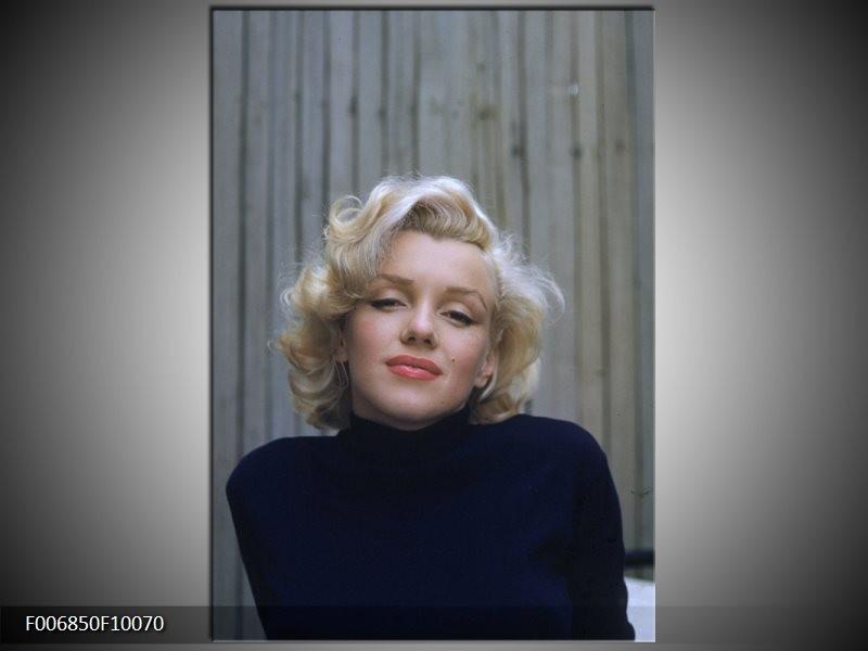 Canvas Schilderij Marilyn Monroe | Zwart, Crème, Grijs