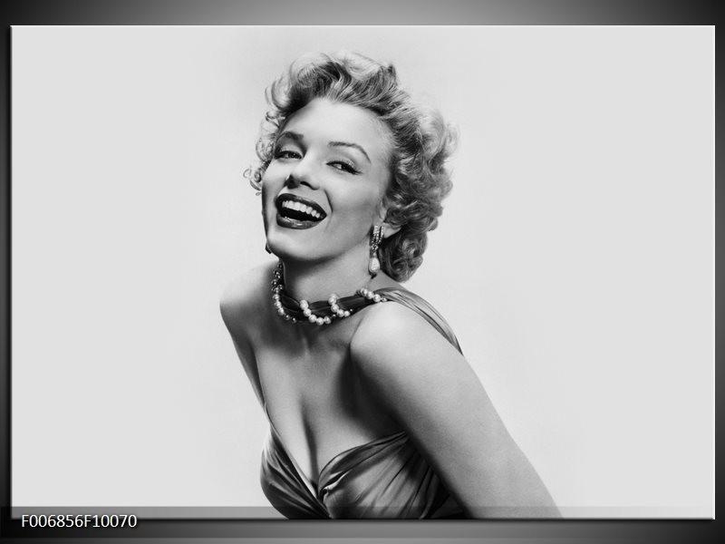 Canvas Schilderij Marilyn Monroe | Grijs, Wit
