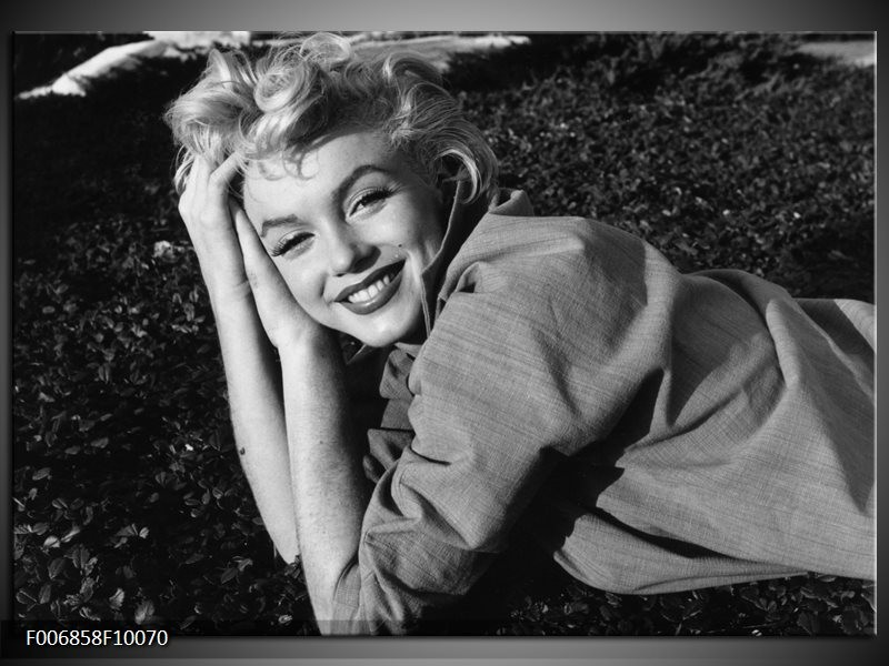 Canvas Schilderij Marilyn Monroe | Zwart, Grijs
