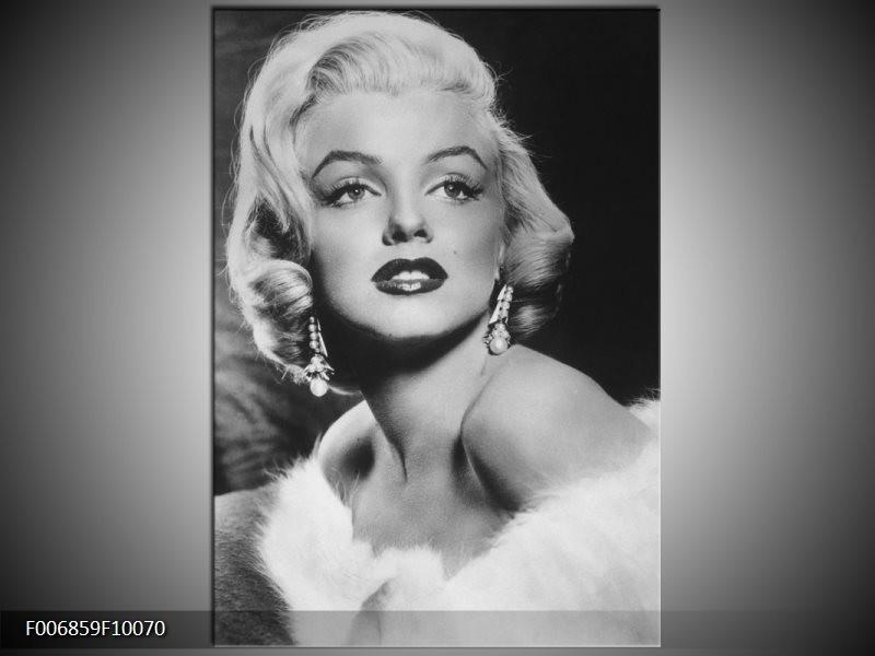 Canvas Schilderij Marilyn Monroe | Zwart, Wit, Grijs