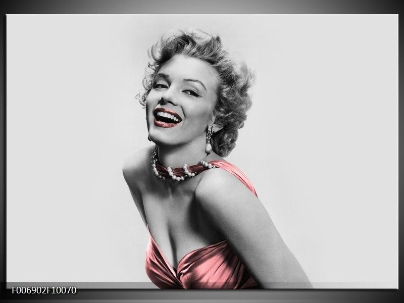 Canvas Schilderij Marilyn Monroe | Grijs, Zwart