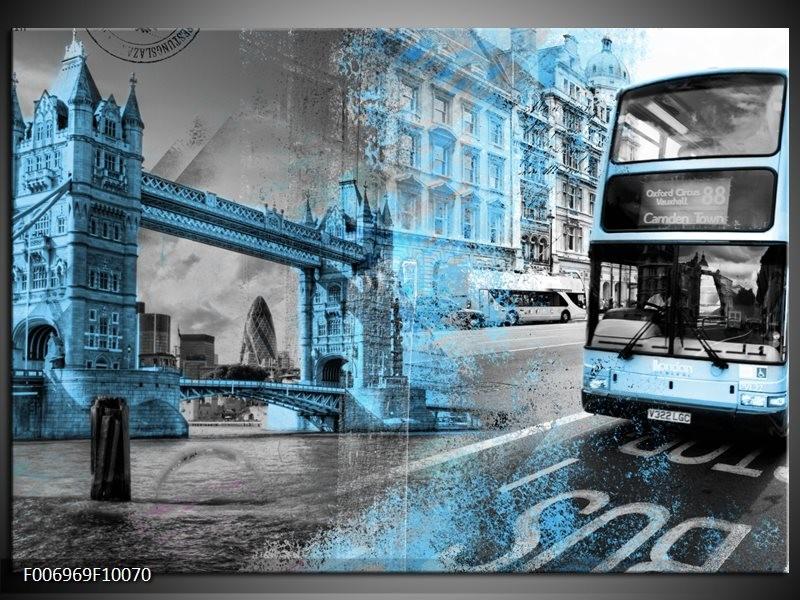 Canvas Schilderij Engeland, London   Grijs, Blauw, Zwart