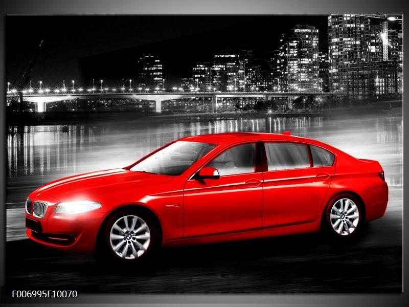 Canvas Schilderij Auto, BMW | Rood, Zwart, Grijs