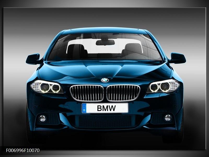 Canvas Schilderij Auto, BMW | Blauw, Zwart, Grijs