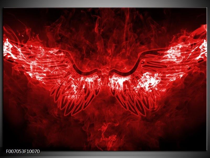 Canvas Schilderij Engel, Vuur | Rood, Wit