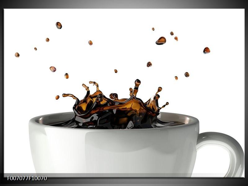 Canvas Schilderij Koffie, Keuken | Wit, Bruin
