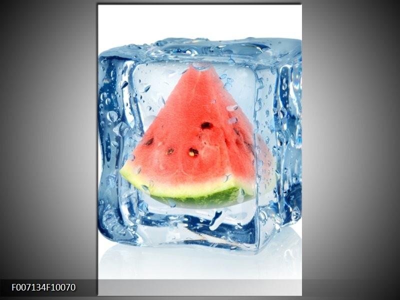 Canvas Schilderij Fruit, Keuken   Rood, Grijs, Blauw