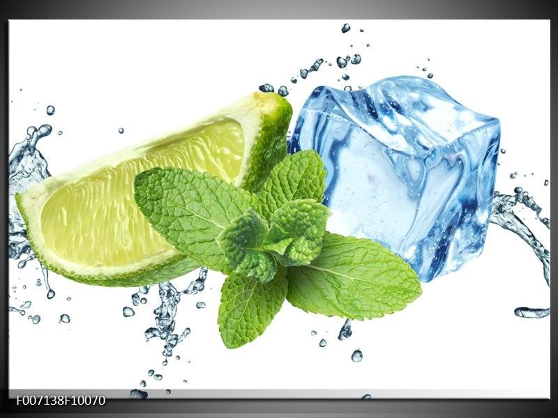 Canvas Schilderij Munt, Keuken | Groen, Geel, Blauw