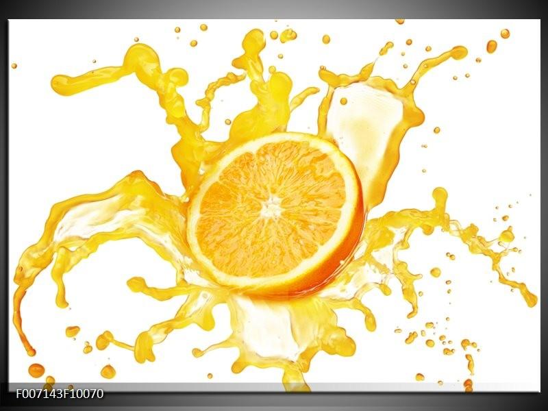 Canvas Schilderij Fruit, Keuken | Geel, Wit