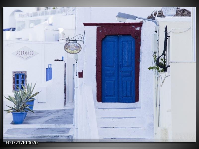 Canvas Schilderij Griekenland   Wit, Blauw
