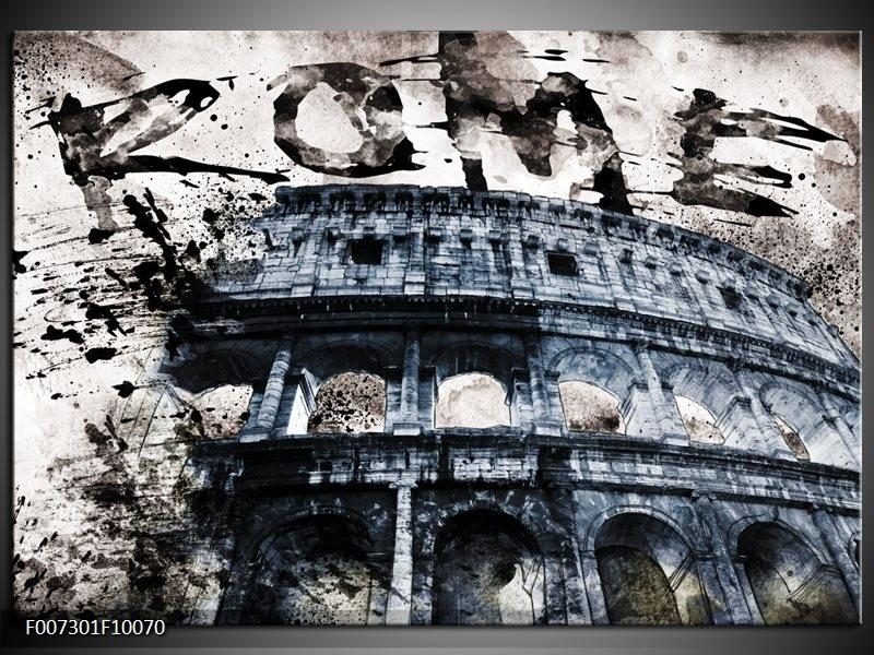 Canvas Schilderij Italie, Rome | Grijs, Blauw