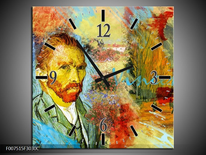 Wandklok Schilderij Van Gogh, Modern | Oranje, Geel, Bruin