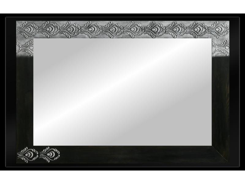 Grote spiegel met houten lijst 112 x 72 cm.  L00037R V