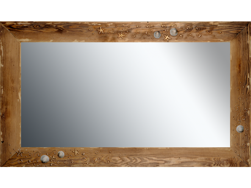 Grote spiegel met houten lijst 120x70cm. L00040R120x70cm