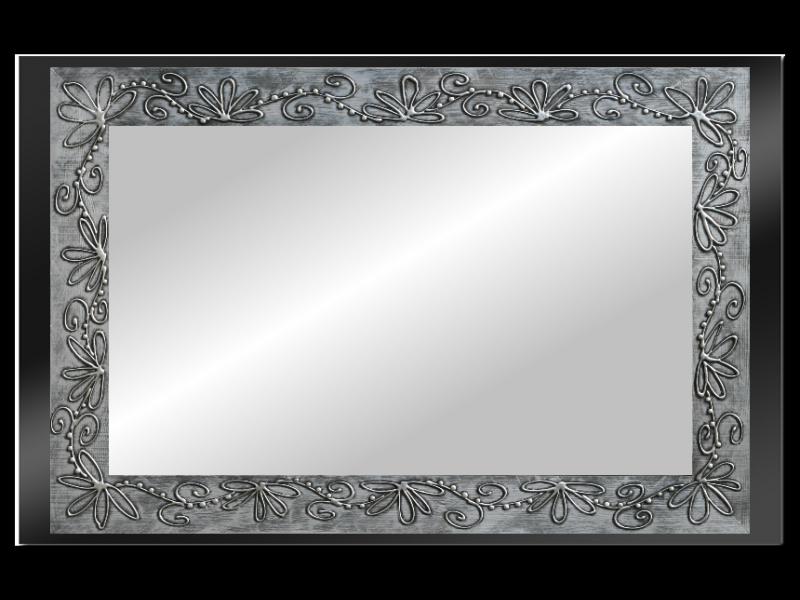 Grote spiegel met houten lijst 140x70cm. L120