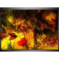 Foto canvas schilderij Lente | Bruin, Rood, Zwart
