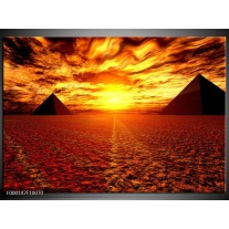 Foto canvas schilderij Egypte   Oranje, Geel, Rood