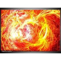 Foto canvas schilderij Vuur | Geel, Oranje, Rood