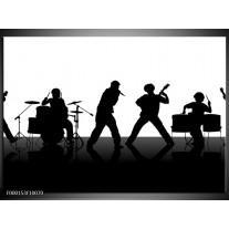 Foto canvas schilderij Muziek | Zwart, Wit, Grijs