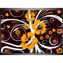 Foto canvas schilderij Abstract | Wit, Oranje, Bruin