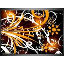 Foto canvas schilderij Abstract | Oranje, Wit, Bruin