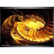 Foto canvas schilderij Abstract   Geel, Goud, Zwart