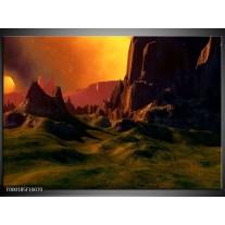 Foto canvas schilderij Natuur   Groen, Bruin, Oranje
