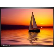 Foto canvas schilderij Boot | Rood, Geel, Zwart