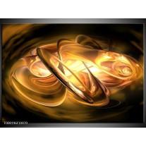 Foto canvas schilderij Abstract   Geel, Oranje, Bruin