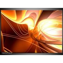 Foto canvas schilderij Abstract | Wit, Geel, Oranje