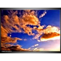 Foto canvas schilderij Lucht | Blauw, Bruin