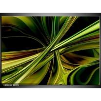 Foto canvas schilderij Abstract | Groen, Zwart, Geel
