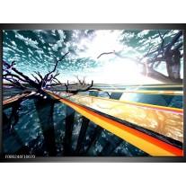 Foto canvas schilderij Abstract | Geel, Blauw, Zwart