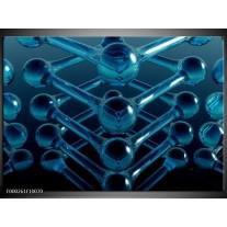 Foto canvas schilderij Abstract | Blauw, Zwart, Wit