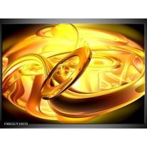Foto canvas schilderij Abstract | Geel, Goud, Oranje