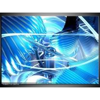 Foto canvas schilderij Abstract   Blauw, Wit, Grijs