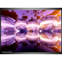 Foto canvas schilderij Abstract | Paars, Bruin, Wit