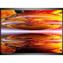 Foto canvas schilderij Abstract | Geel, Oranje, Rood