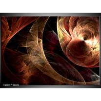 Foto canvas schilderij Abstract | Bruin, Zwart, Rood