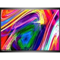Foto canvas schilderij Abstract | Groen, Paars, Geel