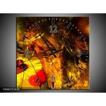 Wandklok op Canvas Lente | Kleur: Bruin, Rood, Zwart | F000017C