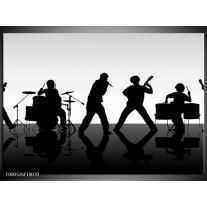 Foto canvas schilderij Muziek | Zwart, Grijs, Wit