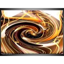 Foto canvas schilderij Abstract   Geel, Bruin, Zwart