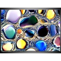 Foto canvas schilderij Cirkels | Paars, Blauw, Geel
