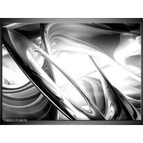 Foto canvas schilderij Abstract | Grijs, Zilver, Wit