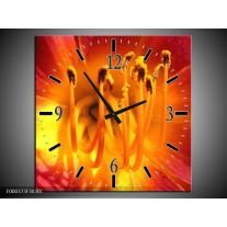 Wandklok op Canvas Natuur | Kleur: Geel, Oranje, Rood | F000373C