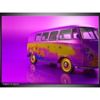 Foto canvas schilderij Auto   Paars, Geel, Zwart